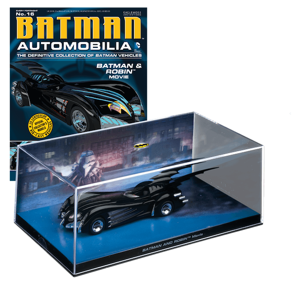 Batman & Robin Movie Batmobile No: 16 by Eaglemoss Publications