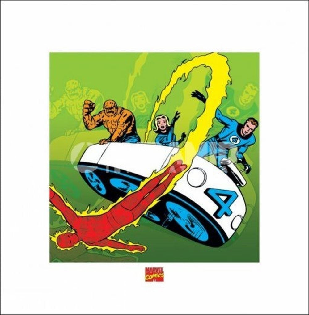 Fantastic Four Mini Poster by Pyramid -Superherotoystore.com - India - www.superherotoystore.com