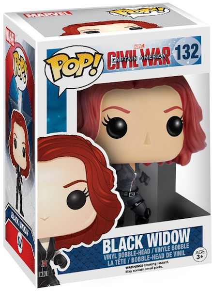 Captain America Civil War: Black Widow Pop! Vinyl Figure by Funko-Funko- www.superherotoystore.com-Bobble Heads - 2
