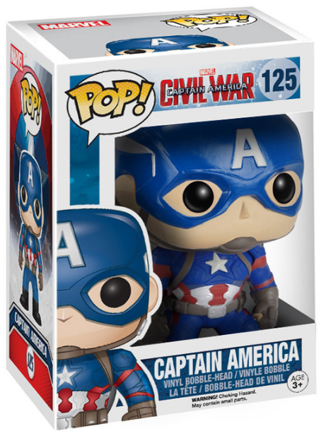 Captain America Civil War: Captain America Pop by Funko-Funko- www.superherotoystore.com-Bobble Heads - 2
