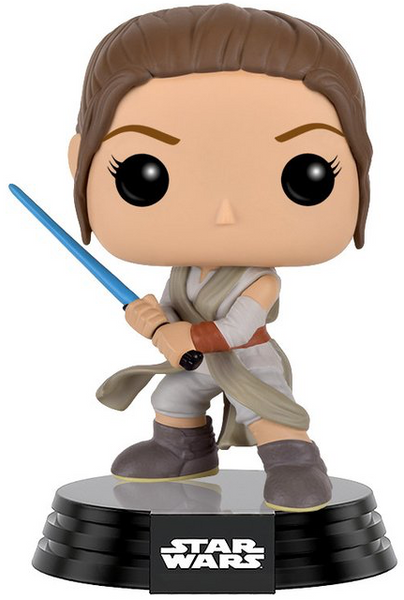 Star Wars Rey with Lightsaber POP! Vinyl Figure by Funko-Funko- www.superherotoystore.com-Bobble Heads - 1