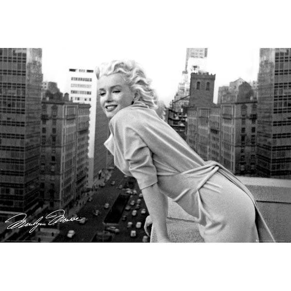Marilyn Monroe Balcony Maxi Poster by GB Eye