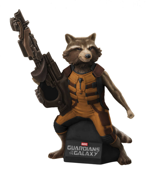 Gaurdians of the Galaxy Rocket Raccoon Bust Bank-Diamond Select toys- www.superherotoystore.com-Bust Bank