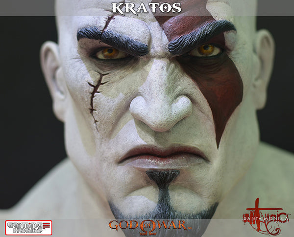 God of War - Kratos Bust-Gaming Heads- www.superherotoystore.com-Statue - 1