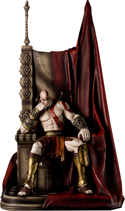 God of War - Kratos on Throne Collectible Statue by Gaming Heads -Gaming Heads - India - www.superherotoystore.com