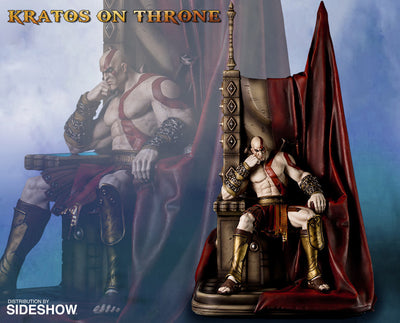 God of War - Kratos on Throne-Gaming Heads- www.superherotoystore.com-Statue - 4