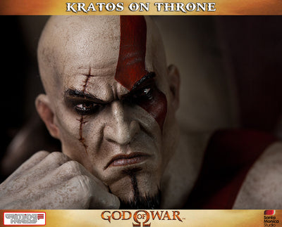 God of War - Kratos on Throne-Gaming Heads- www.superherotoystore.com-Statue - 2