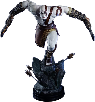 God of War - Lunging Kratos Collectible Statue by Gaming Heads -Gaming Heads - India - www.superherotoystore.com