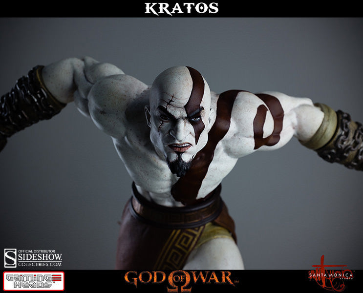 God of War - Lunging Kratos-Gaming Heads- www.superherotoystore.com-Statue - 2