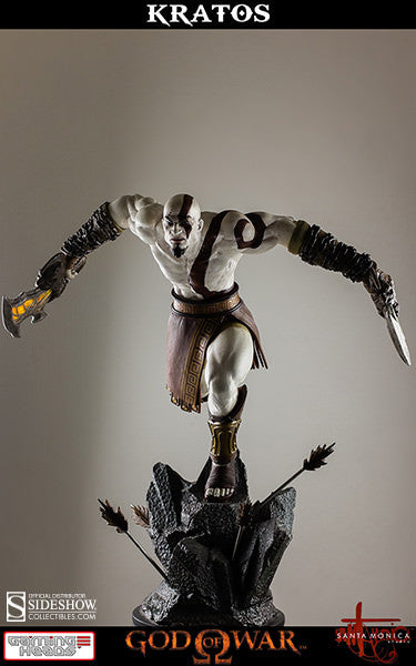 God of War - Lunging Kratos-Gaming Heads- www.superherotoystore.com-Statue - 3