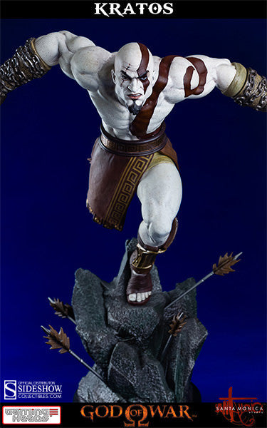 God of War - Lunging Kratos-Gaming Heads- www.superherotoystore.com-Statue - 4