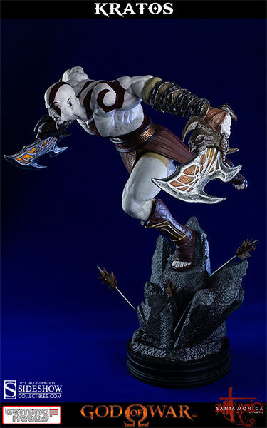 God of War - Lunging Kratos-Gaming Heads- www.superherotoystore.com-Statue - 5