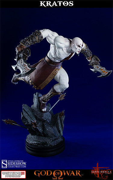 God of War - Lunging Kratos-Gaming Heads- www.superherotoystore.com-Statue - 6