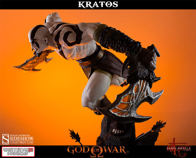 God of War - Lunging Kratos-Gaming Heads- www.superherotoystore.com-Statue - 7