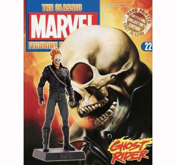 Classic Marvel Fig Coll Mag #22 Ghost Rider-Eaglemoss Publications- www.superherotoystore.com-Action Figure - 2