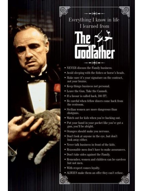 The Godfather - Everything I know Maxi Poster-Superherotoystore.com- www.superherotoystore.com-Posters