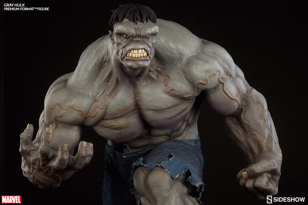 Gray Hulk 1/4th Scale Premium Format Figure by Sideshow Collectibles-Sideshow Collectibles- www.superherotoystore.com-Statue - 3