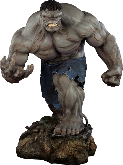 Gray Hulk 1/4th Scale Premium Format Figure by Sideshow Collectibles-Sideshow Collectibles- www.superherotoystore.com-Statue - 1