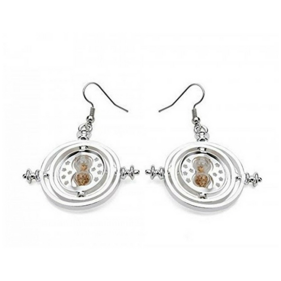 Harry Potter Silver Time Turner Earrings