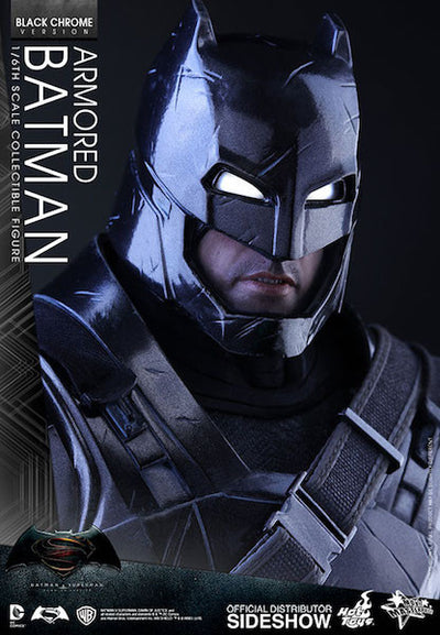 Dawn of Justice Armored Batman Black Chrome Version Figure by Hot Toys -Hot Toys - India - www.superherotoystore.com