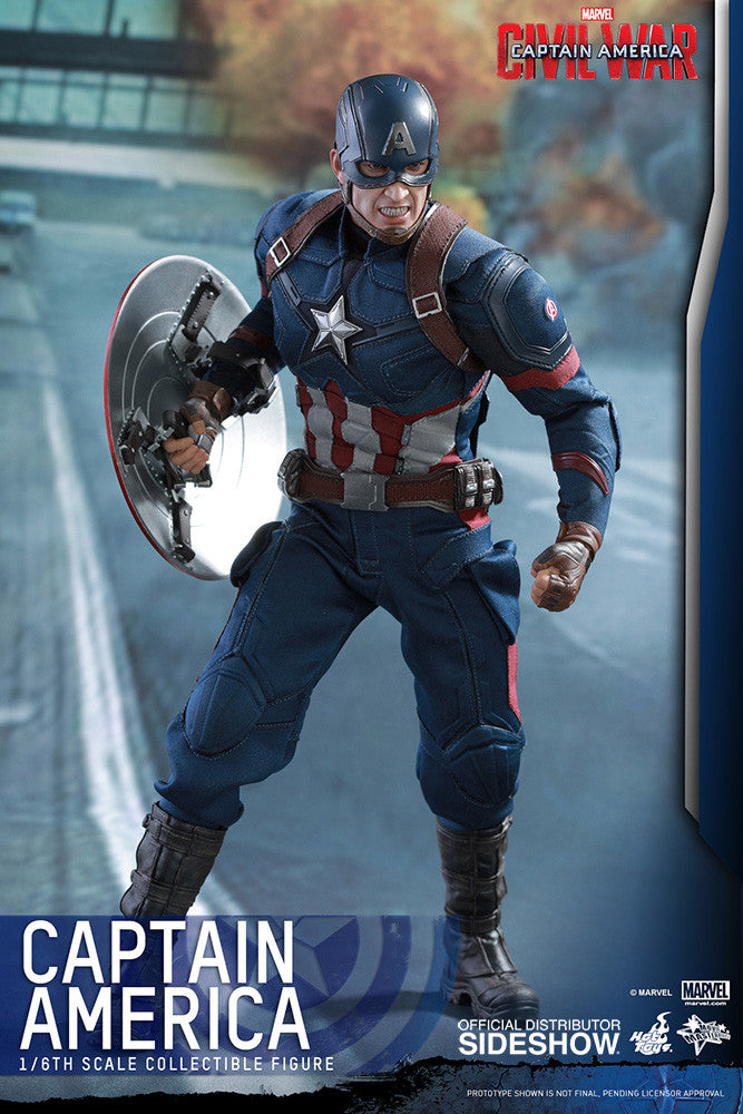 Captain America Civil War: Captain America Sixth Scale Action Figure by Hot Toys-Hot Toys- www.superherotoystore.com-Action Figure - 11