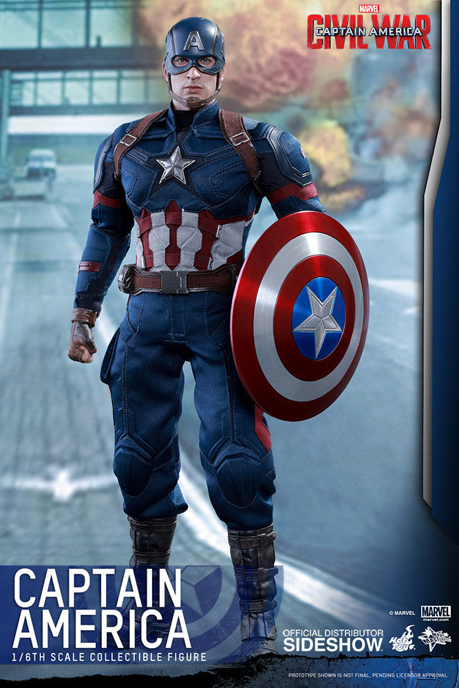 Captain America Civil War: Captain America Sixth Scale Action Figure by Hot Toys-Hot Toys- www.superherotoystore.com-Action Figure - 12