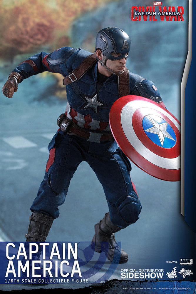 Captain America Civil War: Captain America Sixth Scale Action Figure by Hot Toys-Hot Toys- www.superherotoystore.com-Action Figure - 13