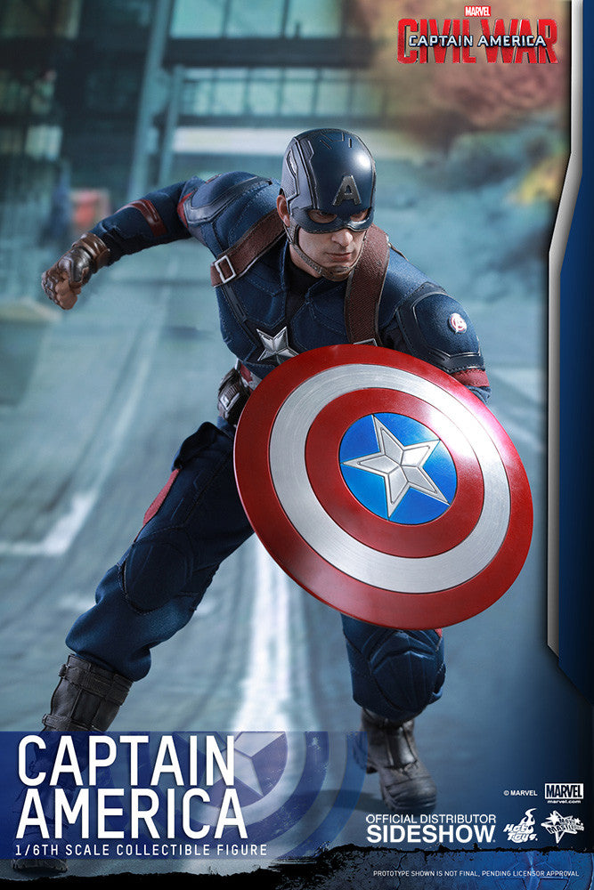 Captain America Civil War: Captain America Sixth Scale Action Figure by Hot Toys-Hot Toys- www.superherotoystore.com-Action Figure - 14