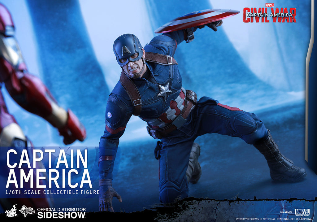 Captain America Civil War: Captain America Sixth Scale Action Figure by Hot Toys-Hot Toys- www.superherotoystore.com-Action Figure - 15