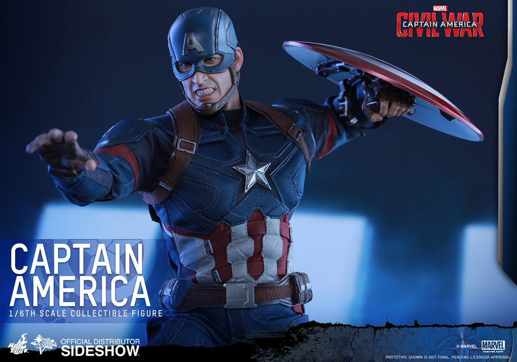 Captain America Civil War: Captain America Sixth Scale Action Figure by Hot Toys-Hot Toys- www.superherotoystore.com-Action Figure - 2