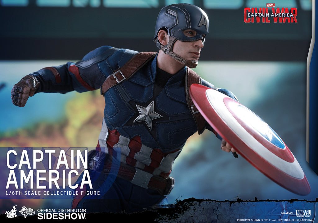 Captain America Civil War: Captain America Sixth Scale Action Figure by Hot Toys-Hot Toys- www.superherotoystore.com-Action Figure - 16