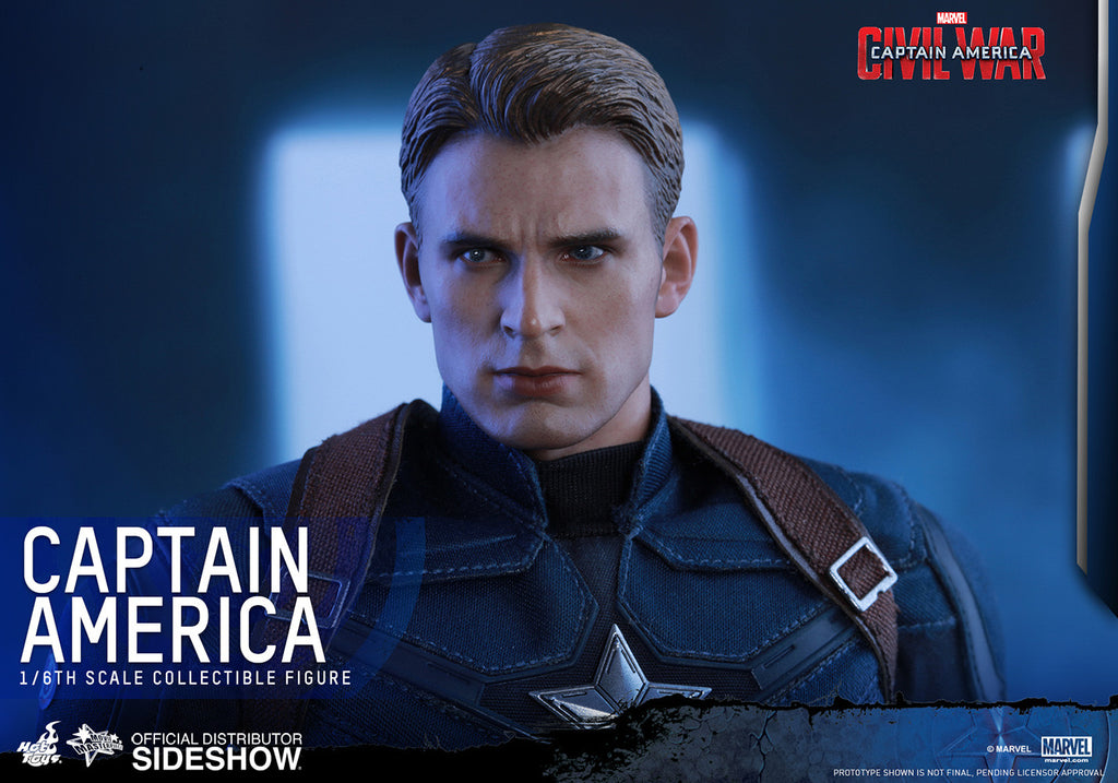 Captain America Civil War: Captain America Sixth Scale Action Figure by Hot Toys-Hot Toys- www.superherotoystore.com-Action Figure - 17