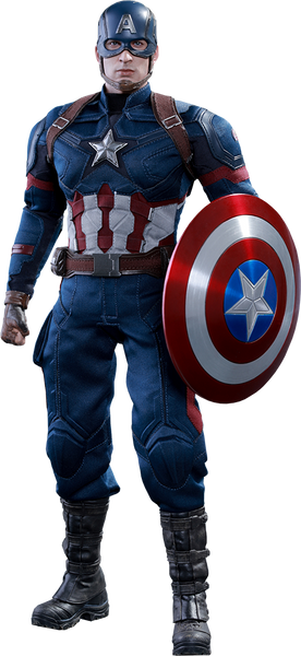 Captain America Civil War: Captain America Sixth Scale Action Figure by Hot Toys-Hot Toys- www.superherotoystore.com-Action Figure - 1