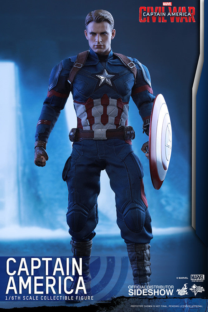 Captain America Civil War: Captain America Sixth Scale Action Figure by Hot Toys-Hot Toys- www.superherotoystore.com-Action Figure - 3