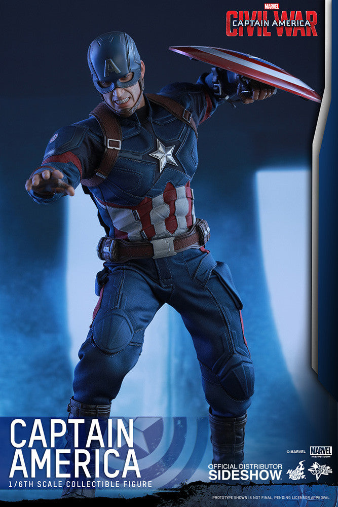 Captain America Civil War: Captain America Sixth Scale Action Figure by Hot Toys-Hot Toys- www.superherotoystore.com-Action Figure - 4