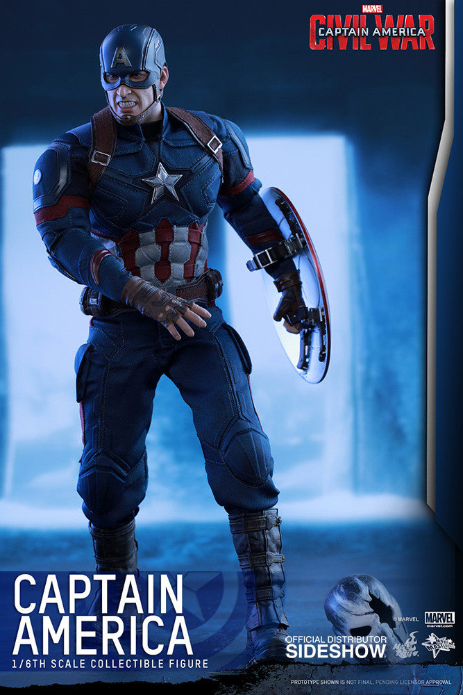 Captain America Civil War: Captain America Sixth Scale Action Figure by Hot Toys-Hot Toys- www.superherotoystore.com-Action Figure - 5