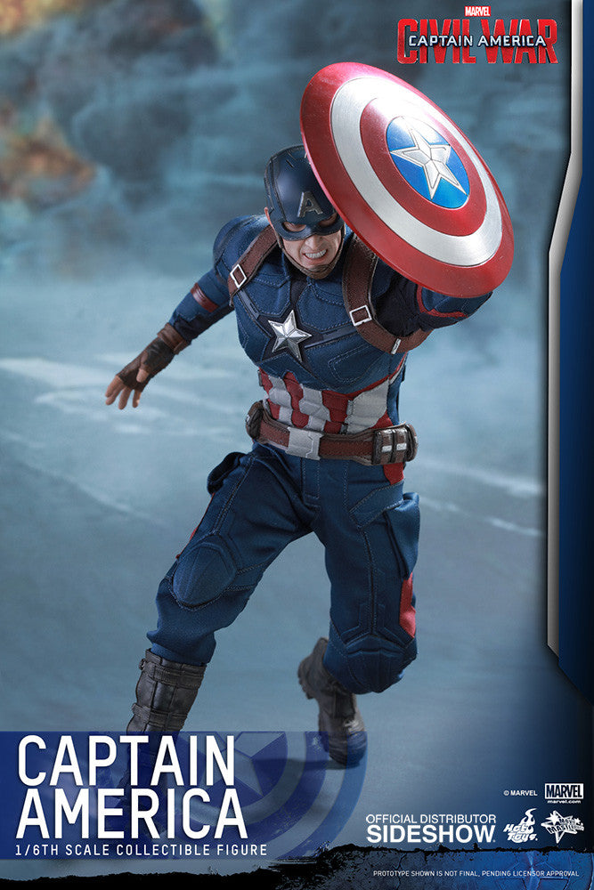 Captain America Civil War: Captain America Sixth Scale Action Figure by Hot Toys-Hot Toys- www.superherotoystore.com-Action Figure - 6