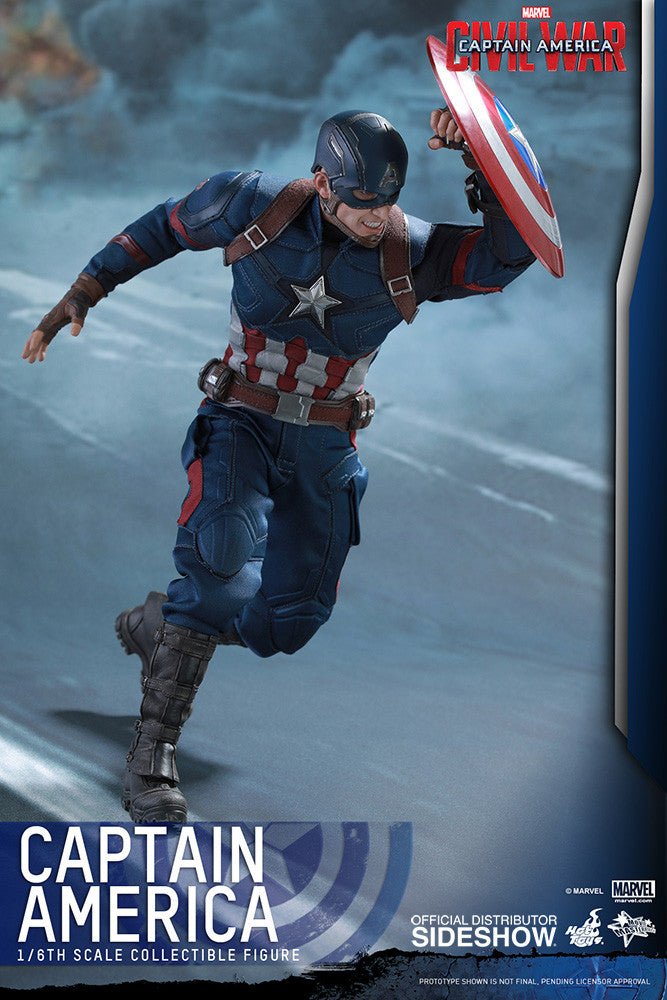 Captain America Civil War: Captain America Sixth Scale Action Figure by Hot Toys-Hot Toys- www.superherotoystore.com-Action Figure - 7