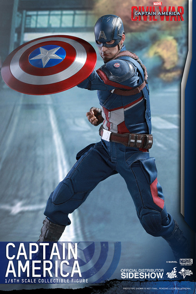 Captain America Civil War: Captain America Sixth Scale Action Figure by Hot Toys-Hot Toys- www.superherotoystore.com-Action Figure - 8