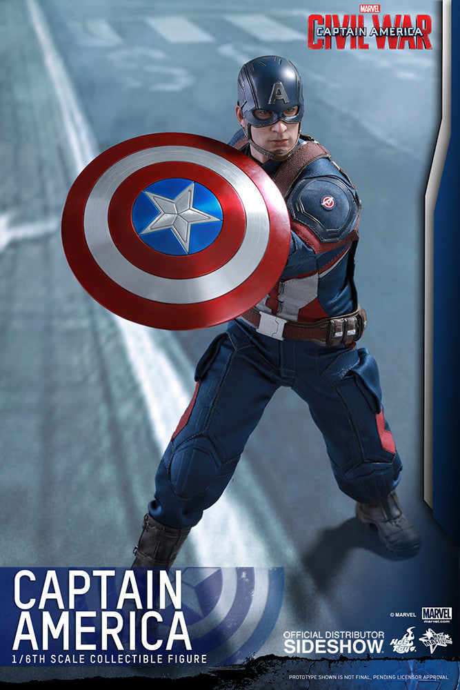 Captain America Civil War: Captain America Sixth Scale Action Figure by Hot Toys-Hot Toys- www.superherotoystore.com-Action Figure - 9