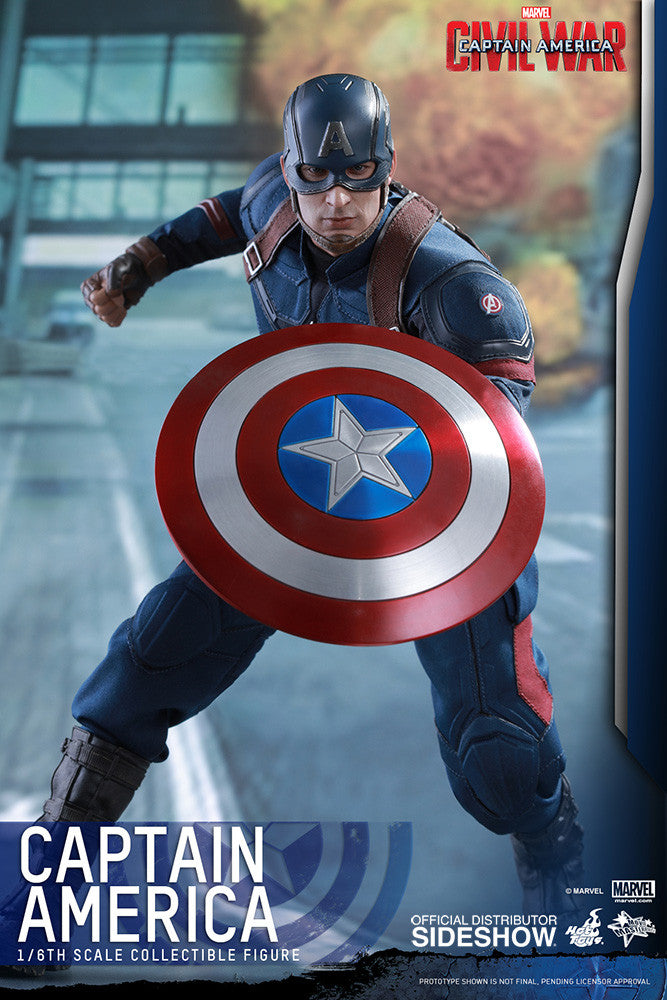 Captain America Civil War: Captain America Sixth Scale Action Figure by Hot Toys-Hot Toys- www.superherotoystore.com-Action Figure - 10