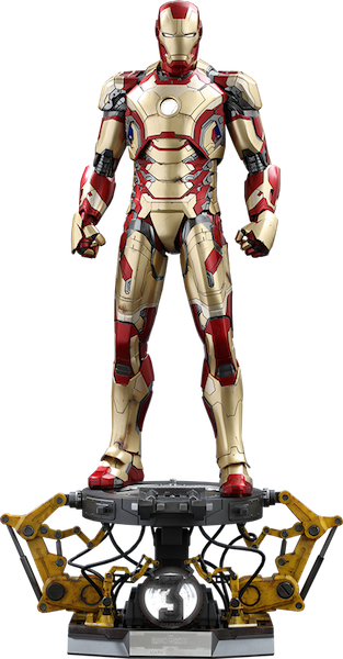 Iron Man 3: Iron Man (DX Version) Mark XLII 1/4th Scale Figure by Hot Toys
