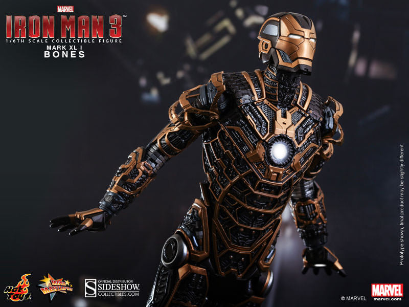 Iron Man 3: Iron Man Mk XLI Bones 1/6th Scale Figure by Hot Toys