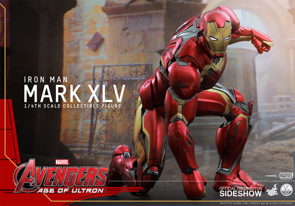 Iron Man Mark XLV Quarter Scale Figure-Hot Toys- www.superherotoystore.com-Action Figure - 1