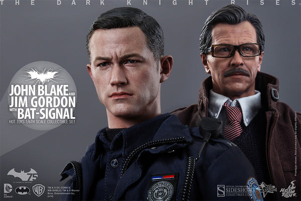 Dark Knight Rises John Blake & Jim Gordon with Bat-Signal Sixth Scale Figure by Hot Toys-Hot Toys- www.superherotoystore.com-Action Figure - 1