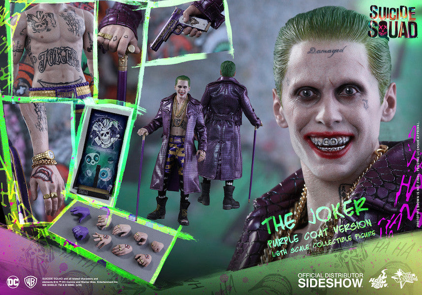 Suicide Squad Joker (Purple Coat Version) 1/6th Scale Figure by Hot Toys-Hot Toys- www.superherotoystore.com-Action Figure - 18