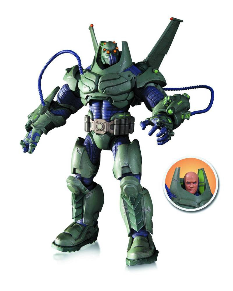 DC Comics Super Villains Armored Lex Luthor Deluxe Figure-DC Collectibles- www.superherotoystore.com-Action Figure - 1