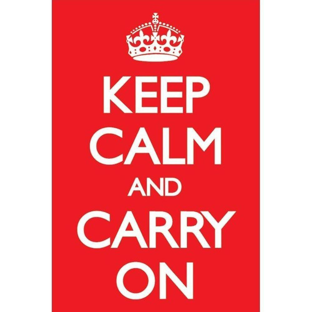 Keep Calm And Carry On Maxi Poster-Superherotoystore.com- www.superherotoystore.com-Posters