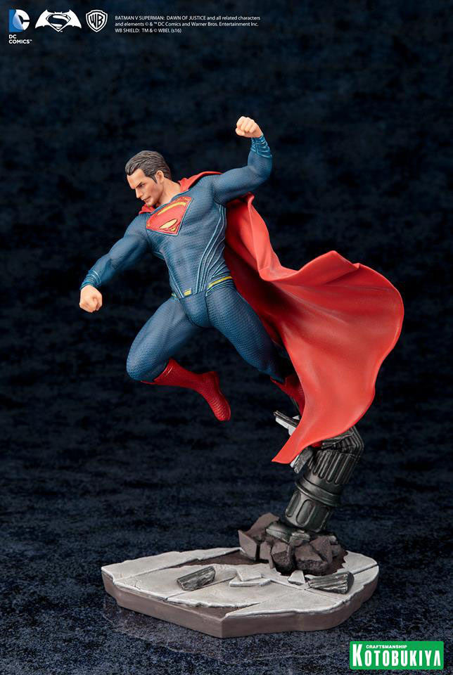 Dawn of Justice Superman ArtFX+ Figure by Kotobukiya-Kotobukiya- www.superherotoystore.com-Statue - 3