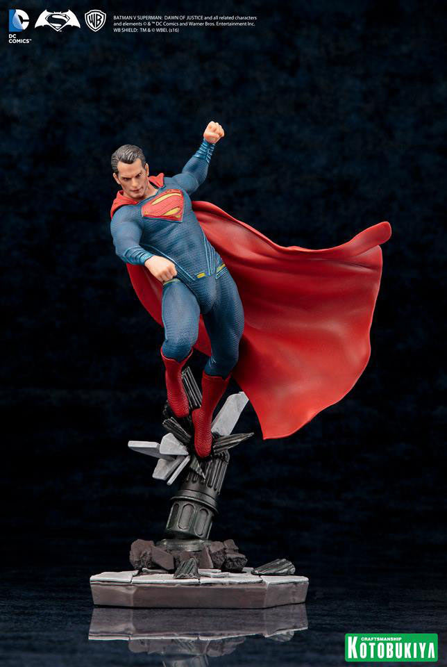 Dawn of Justice Superman ArtFX+ Figure by Kotobukiya-Kotobukiya- www.superherotoystore.com-Statue - 5